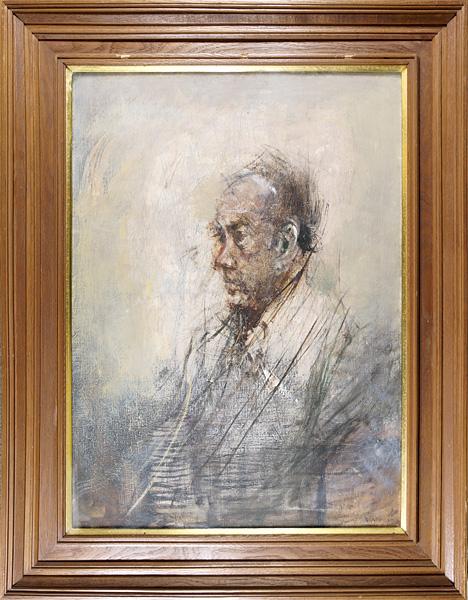 平野遼 油彩画「N氏像」