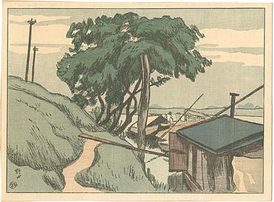 日本風景版画第四集 下総之部 野田 / 石井柏亭