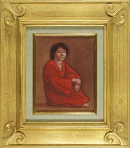 赤い民族衣装の女 / 相笠昌義