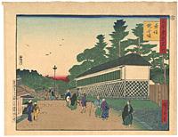 古今東京名所 赤坂 紀ノ国坂 (古) / 広重三代