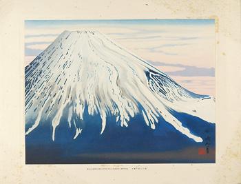 南から見た富士 / 定方塊石