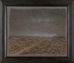 自筆画 オーヴェール・土塊れの丘 / 藤山ハン