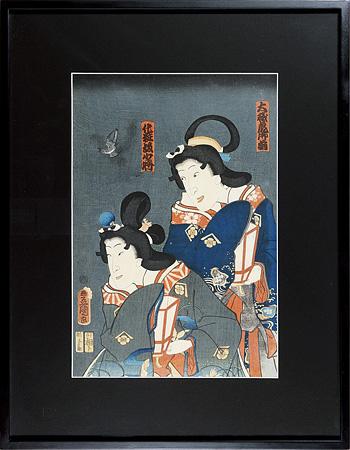 大磯虎御前 化粧坂少将 / 豊国三代