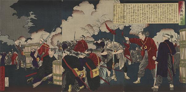 月岡芳年「熊本伝報図画」
