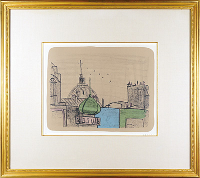 石版画集「パリの屋根」より / 香月泰男