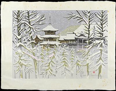 雪の清水寺(仮題) / 関野凖一郎