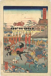 東海道名所之内 加茂の競馬 / 暁斎