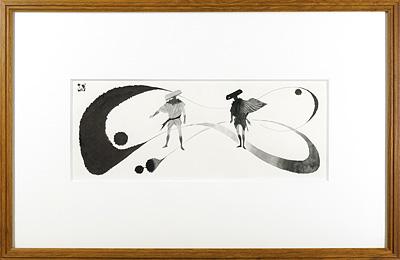 自筆挿絵 木枯し紋次郎 / 岩田専太郎