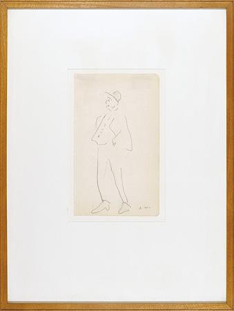 自筆画「ポケットに手をつっこんでいる男」 / アルベール・マルケ