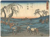 東海道五十三次之内 池鯉鮒 / 広重初代