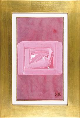 自筆画 ピンクの四角 / 大沢昌助