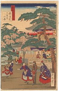 東京名所ノ内 新皇居御庭前の図 / 幾英