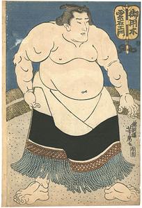 相撲絵 御用木雲右衛門 / 芳虎
