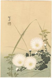 菊とこおろぎ(仮題) / 木村武山