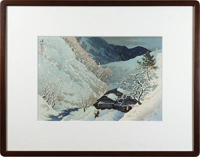 信濃十景 小諸路の暮雪 / 伊東深水