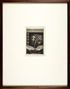 肖像(Portrait de Gilles de Rais) / 駒井哲郎