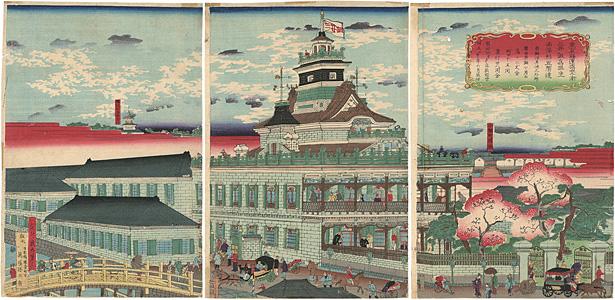 東京海運橋兜街三井組為換座西洋形五階造  / 幾丸