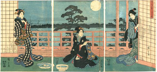 隅田の葉月の宴 / 広重初代