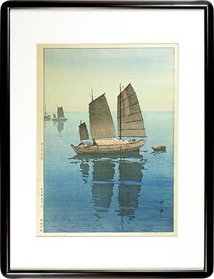 瀬戸内海集 帆船 午前 / 吉田博