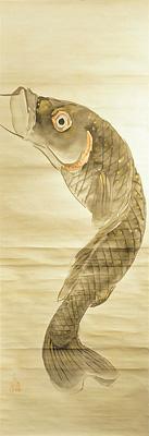 自筆画幅 鯉 / 清親