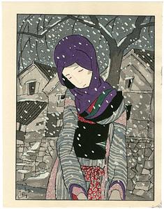 雪の夜の伝説 / 竹久夢二