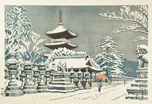 東京名所の内 上野東照宮雪 / 浅野竹二