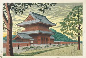 東京名所の内 増上寺暮色 / 浅野竹二
