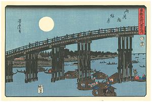 東都名所八景之内 両国橋秋月 【復刻版】 / 芳虎