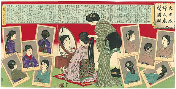 大日本婦人束髪図解 / 吟光(銀光)