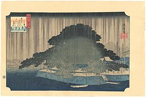 近江八景 唐崎夜雨 【復刻版】 / 広重初代<