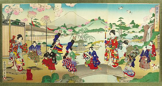 華族令■春駒ノ遊 / 国貞三代