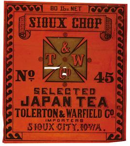 輸出茶箱用蘭字ラベル