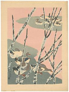 初冬の水辺 / 鶴田吾郎
