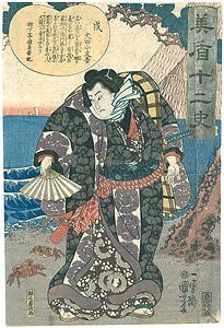 美盾十二史 戌 犬田小文吾 / 国芳
