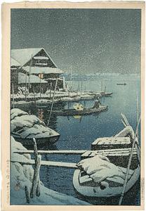 雪の向嶋 / 川瀬巴水