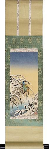 雪中のカワセミ / 楢崎栄昭