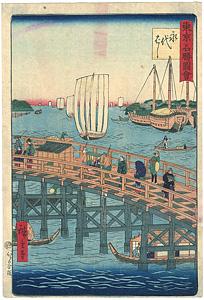 東京名勝図会 永代橋 / 広重三代