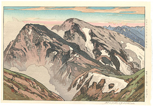 日本アルプス十二題の内 白馬山頂より / 吉田博