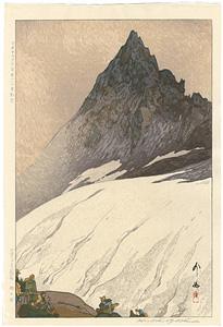 日本アルプス十二題の内 槍ヶ岳 / 吉田博