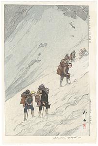 日本アルプス十二題の内 針木雪渓 / 吉田博