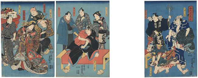 助六色花王 / 豊国三代