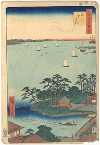 名所江戸百景 品川すさき / 広重初代
