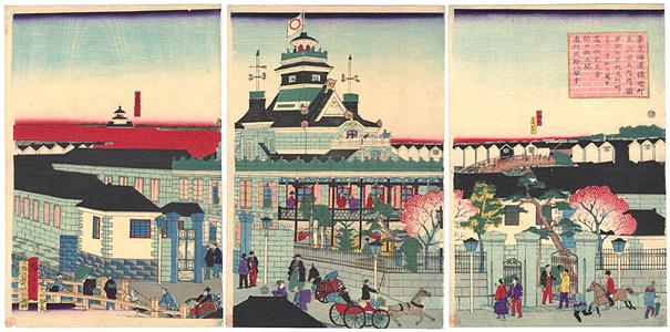 東京海運橋兜町為換座五階造リ図 / 広重三代