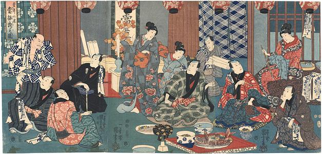 豊年の米 當振舞之図 / 国芳