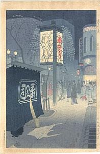 春の夜 銀座 / 笠松紫浪