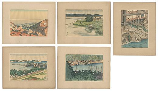 日本風景版画 第一集 北陸之部 / 石井柏亭