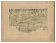 日本風景版画 第三集 東北之部 平泉 / 平福百穂
