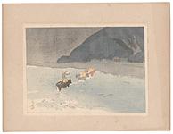 日本風景版画 第三集 東北之部 鳴子 / 平福百穂