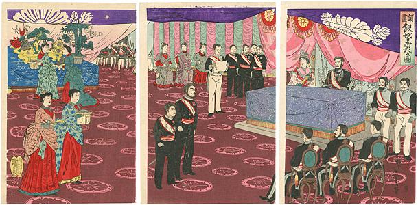 額画 銀婚御式の図 / 小国政
