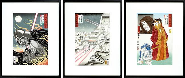 浮世絵スター・ウォーズ 『星間大戦絵巻』 / 石川真澄